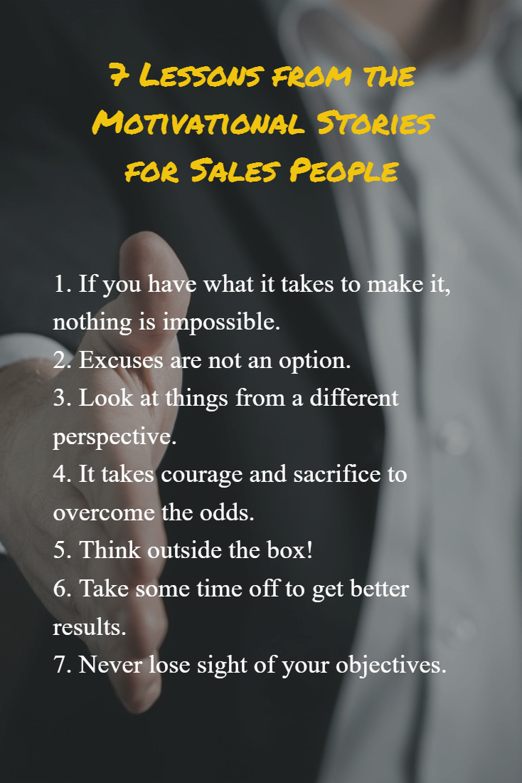 7 Lessons from the Motivational Stories for Sales People